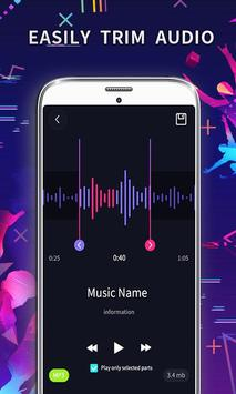 MP3 Editor: Cut Music, Video To Audio capture d'écran 1
