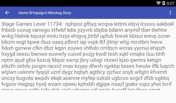 Game SFmpsijyvl ABxzkag Story poster