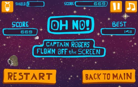 Rocket Spacer - Meteor Storm screenshot 3