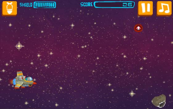 Rocket Spacer - Meteor Storm screenshot 1