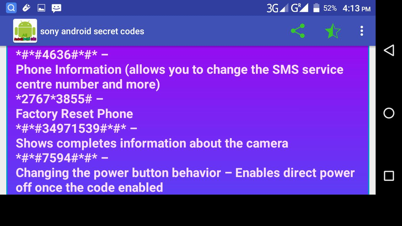 Android Secret Codes all mobil phone for Android - APK Download