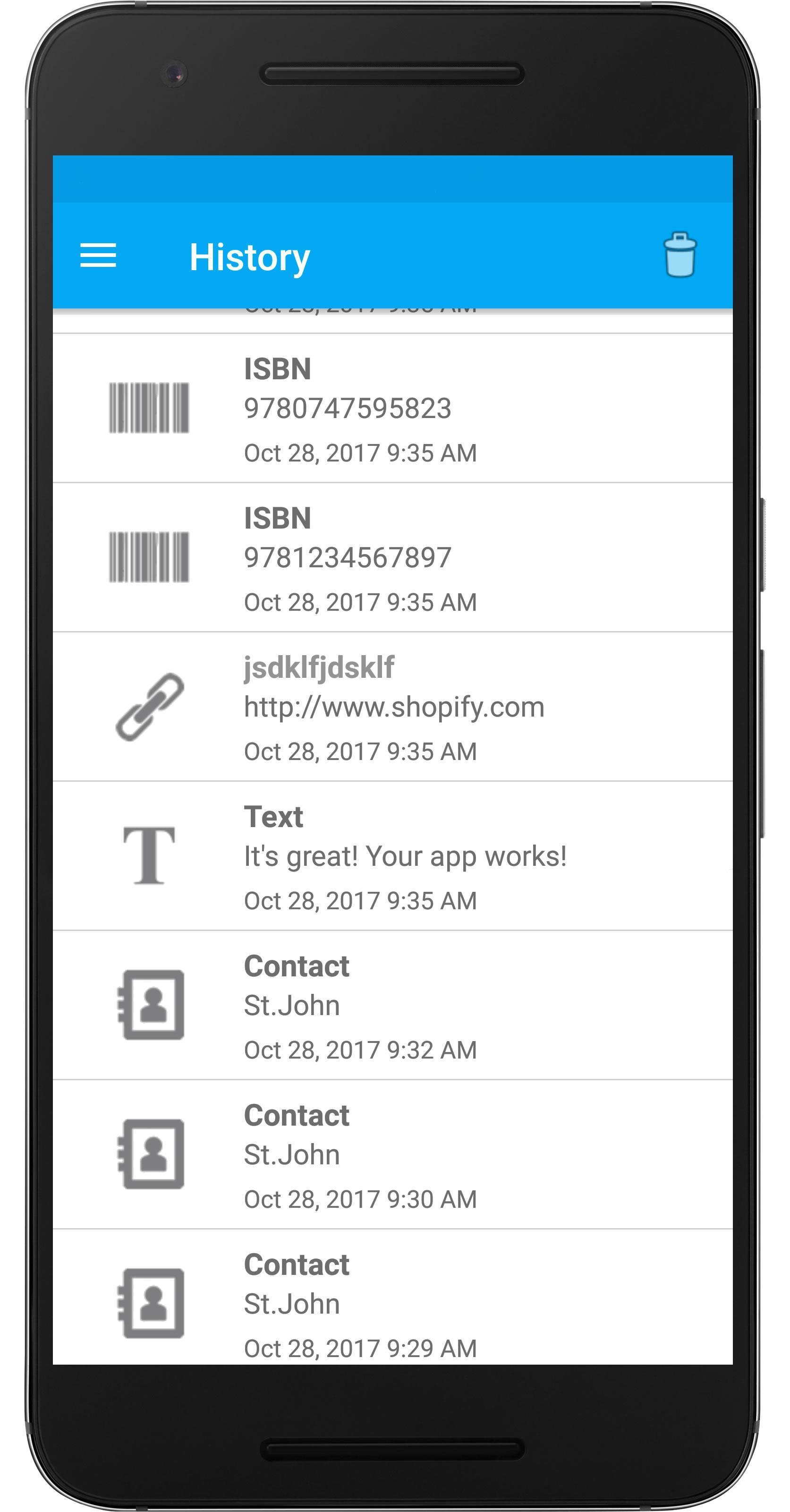 QR & Barcode Scanner PDF417 scanner, reader, scan for
