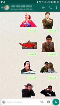 Friends TV Pegatinas / Stickers for WhatsApp captura de pantalla 3