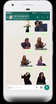 Friends TV Pegatinas / Stickers for WhatsApp captura de pantalla 1