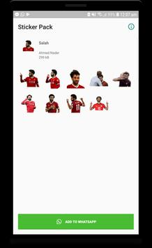 Mo Salah stickers for WhatsApp Cartaz