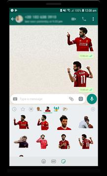 Mo Salah stickers for WhatsApp imagem de tela 1