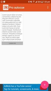 Pro autocue screenshot 1
