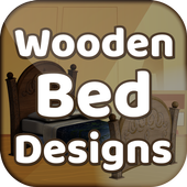 Wooden bed designs icon