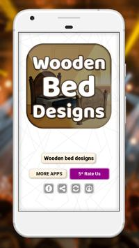 Wooden bed designs poster