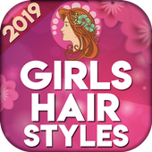Girls hairstyles step by step icon