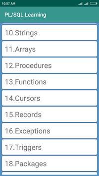 PL/SQL Learning screenshot 1