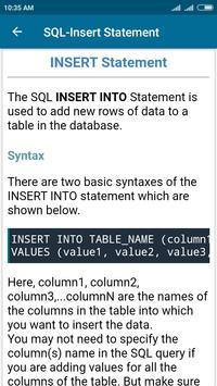 SQL and PL/SQL Tutorial screenshot 5