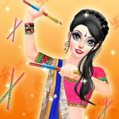 Navratri Fashion Salon - Makeover and Dressup Game icon