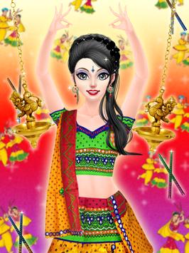 Navratri Fashion Salon - Makeover and Dressup Game screenshot 1