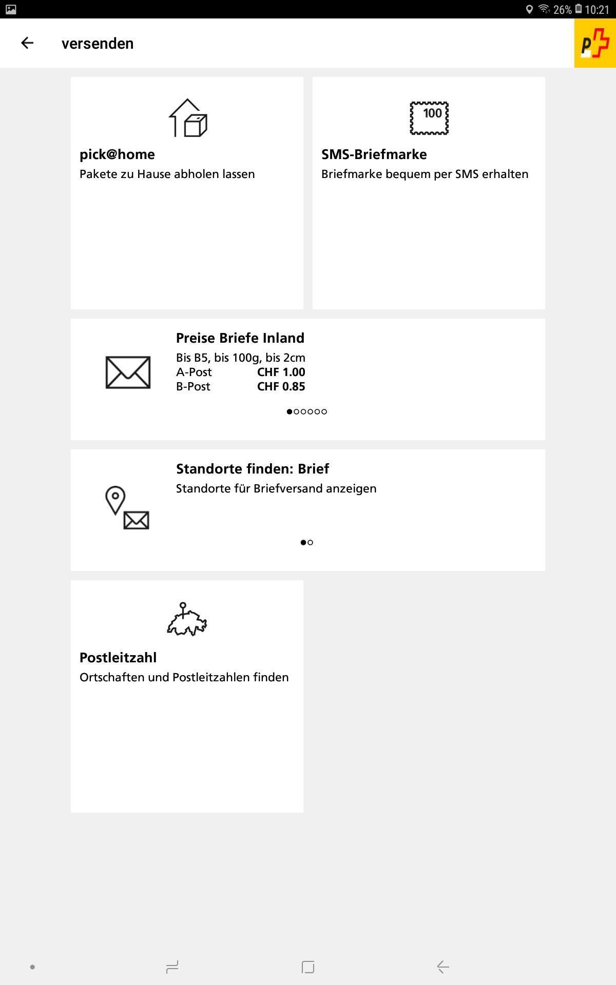 App Der Schweizerischen Post For Android Apk Download