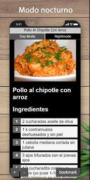 Las mejores recetas de pollo y arroz screenshot 4