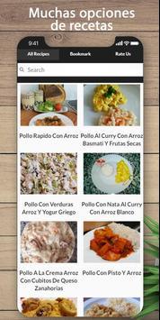 Las mejores recetas de pollo y arroz poster
