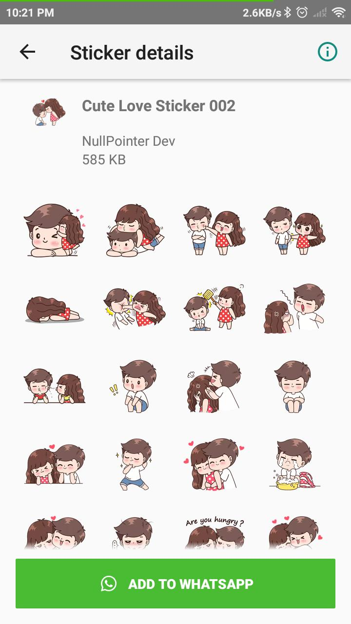 Cute Couple Sticker For Wastickerapps For Android Apk Download