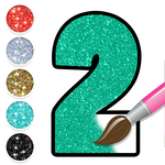 Glitter Number Coloring and Drawing Book For Kids APK