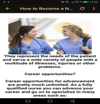 To Become a Nurse screenshot 2