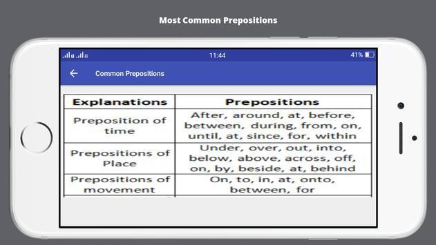 Preposition - English Grammar screenshot 6