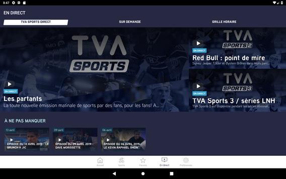 TVA Sports screenshot 13