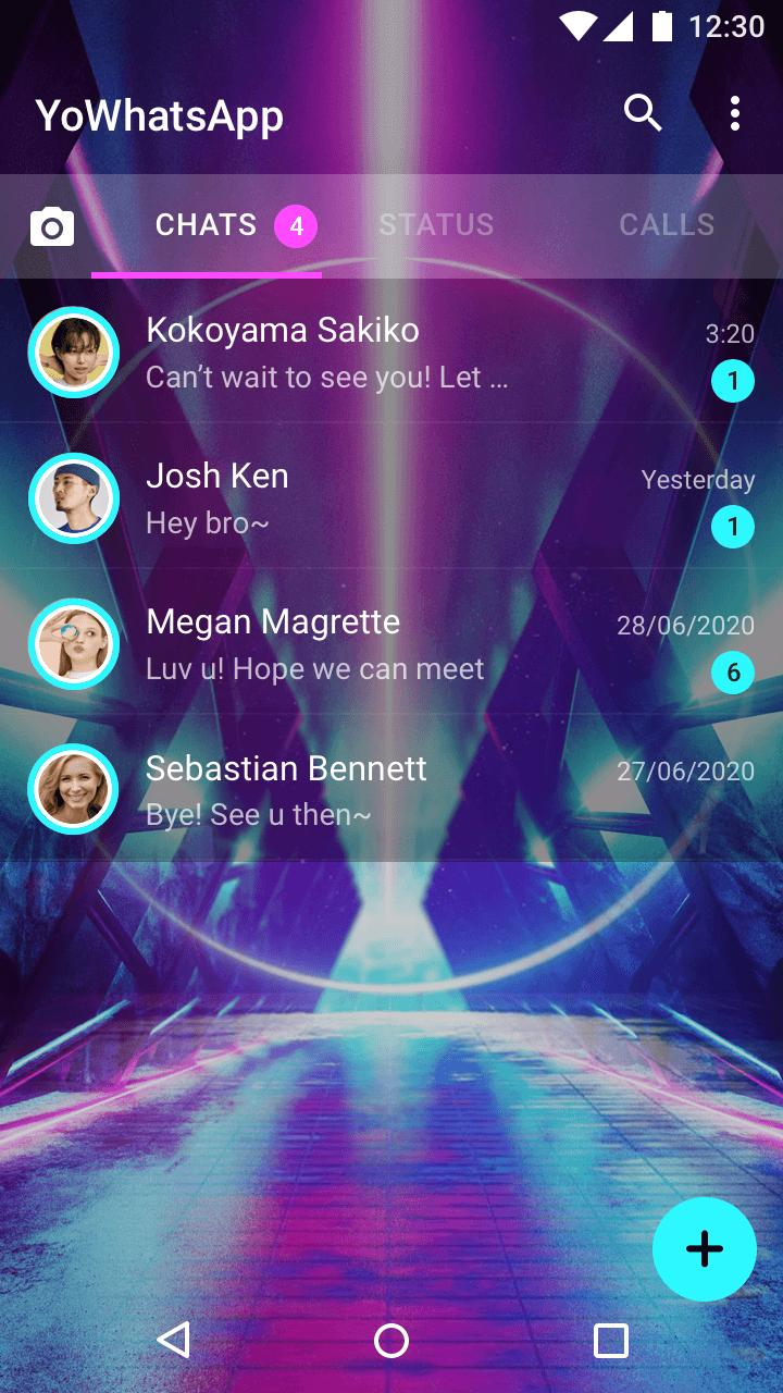 20 Cyberpunk Theme  > GB Whats Plus Azul HeyMods for Android ...