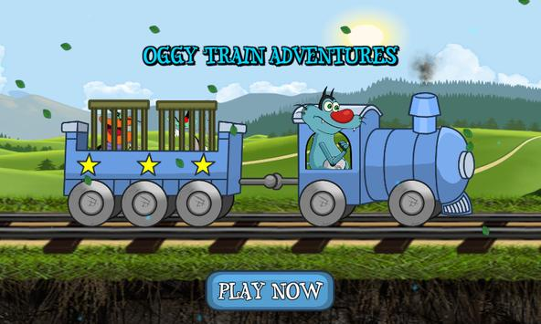 Oggy Train Adventure For Kids poster