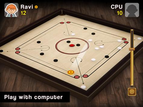 Carrom Multiplayer - 3D Carrom Board Game स्क्रीनशॉट 12