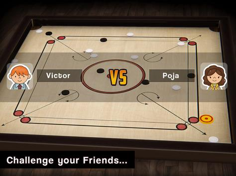 Carrom Multiplayer - 3D Carrom Board Game स्क्रीनशॉट 1