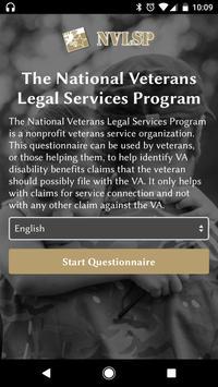 NVLSP VA Benefit Identifier poster