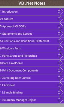 VB .Net Notes screenshot 1