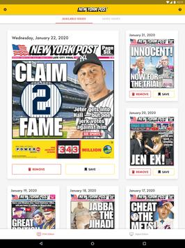 Poster New York Post for Tablet