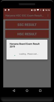 Haryana HSC SSC Exam Results 2019 poster