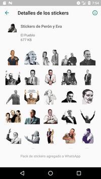 Stickers de Perón, Evita, CFK, Fidel y el Che 截图 1
