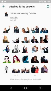 Stickers de Perón, Evita, CFK, Fidel y el Che 截图 5