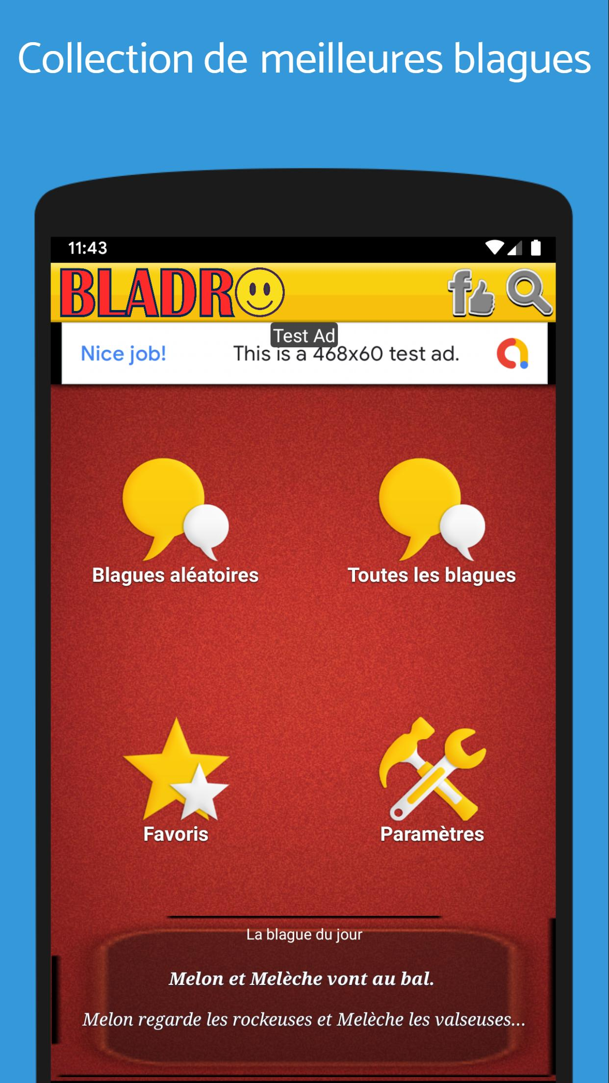 Bladro Meilleures Blagues Droles For Android Apk Download