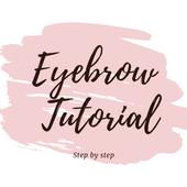 Eyebrow tutorial: how to shape - offline icon