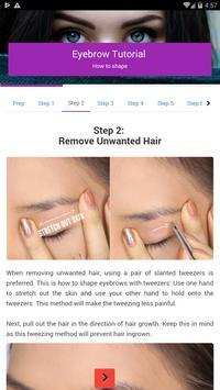 Eyebrow tutorial: how to shape - offline screenshot 1