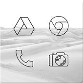 Lines Dark - Black Icons (Free Version) icon