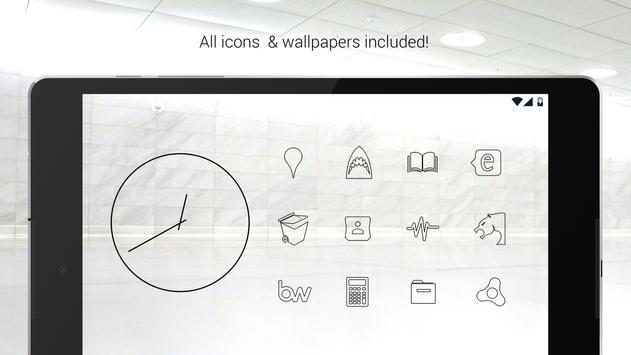 Lines Dark - Black Icons (Free Version) screenshot 6