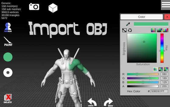 d3D Sculptor screenshot 3