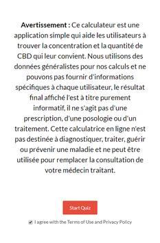 Calculateur Dosage CBD poster