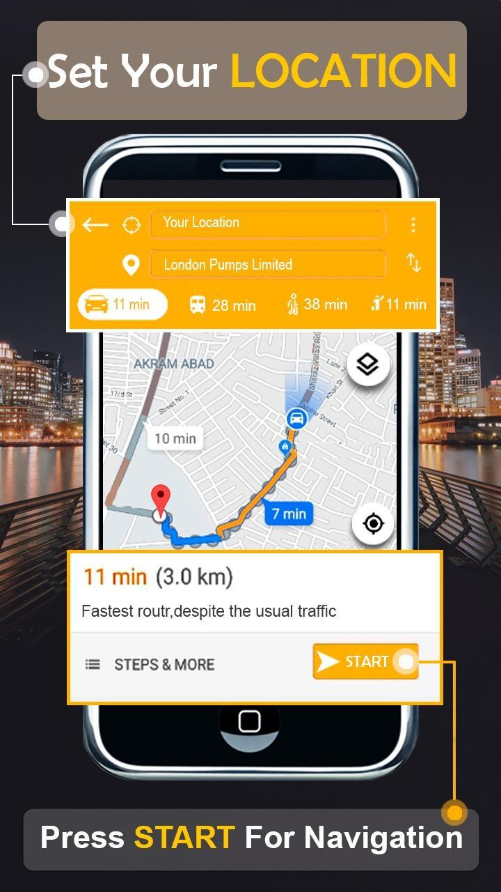 GPS Satellite Maps & Live Street View Navigation for Android - APK