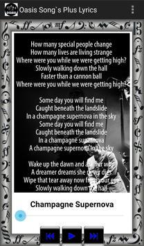 Oasis Song's Plus Lyrics screenshot 6