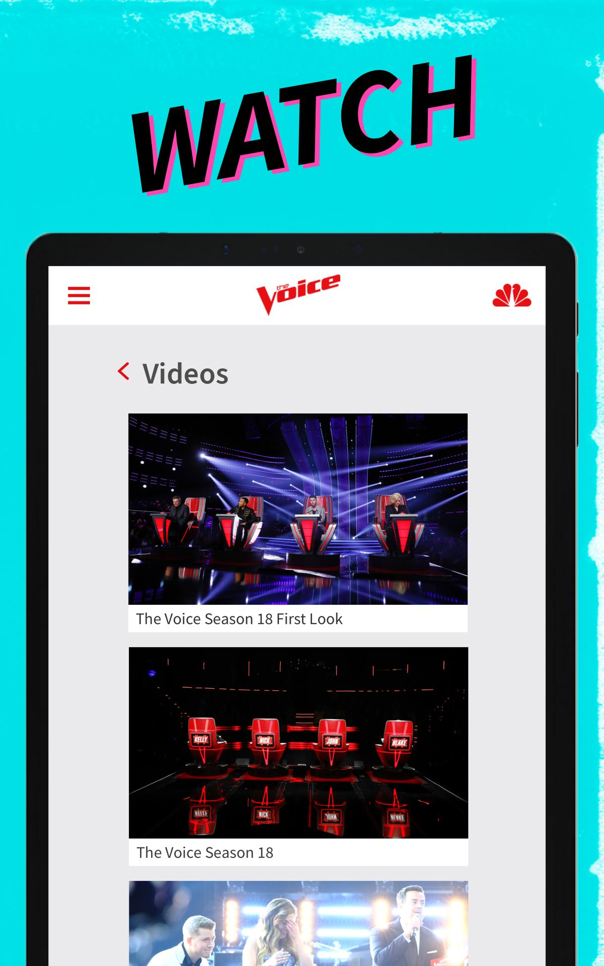 The Voice Official Apk on NBC 2