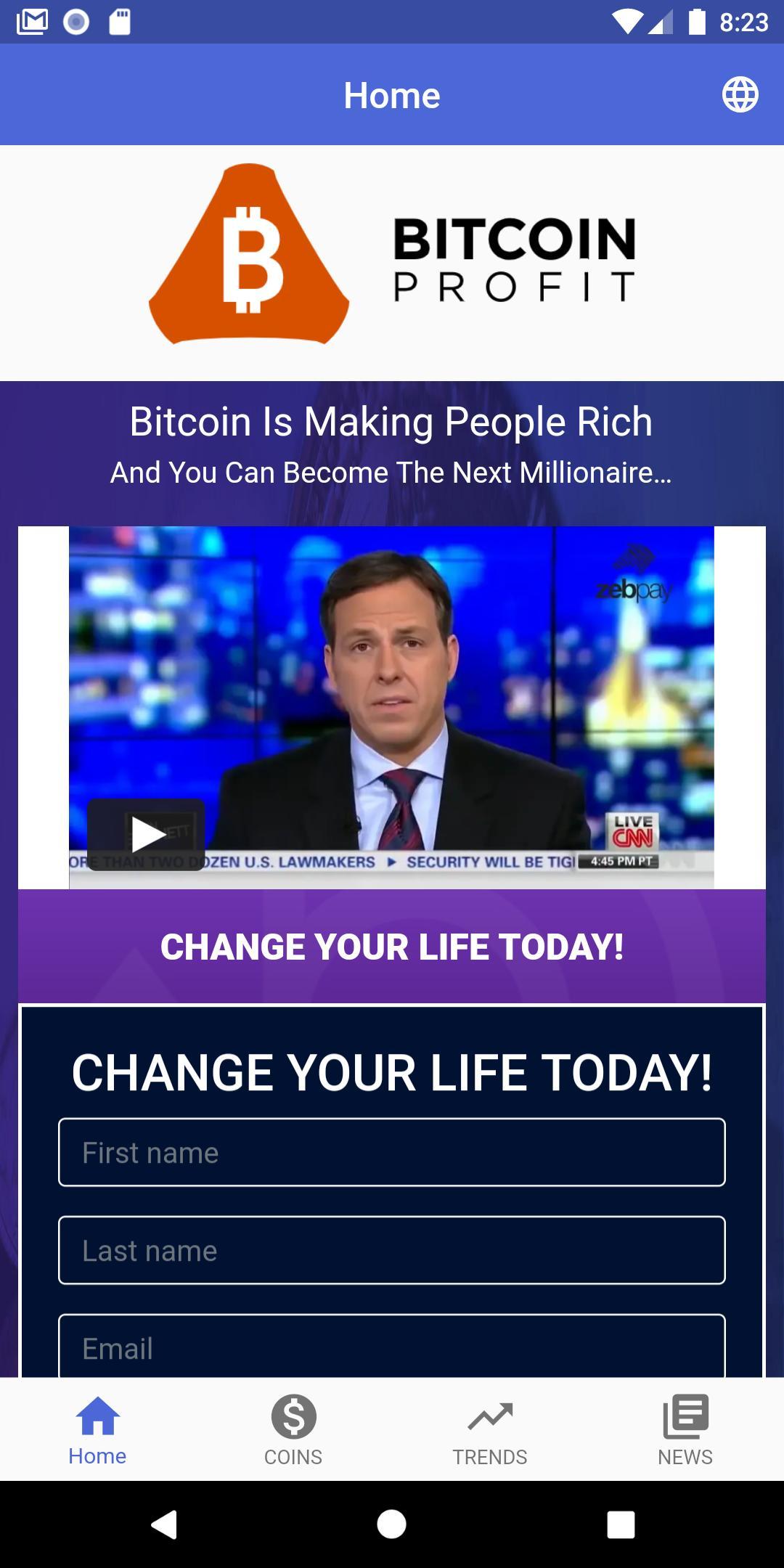 bitcoin profit app sárkányok den