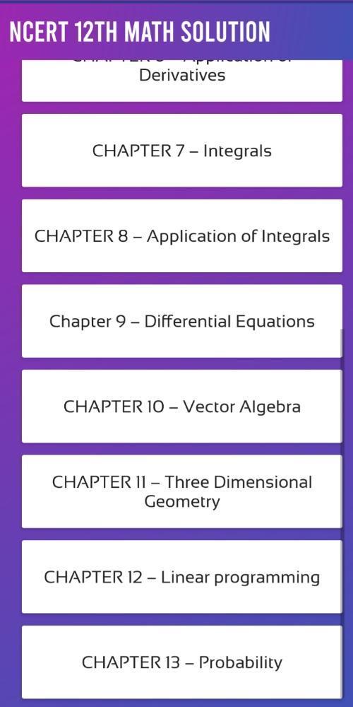 Class 12th Math Solustion | 12 Ncert Math PDF 2019 for