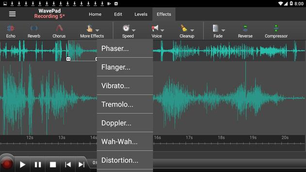 WavePad Audio Editor Free 截圖 6