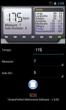 TempoPerfect imagem de tela 1